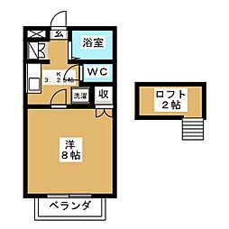 ラフォーレ壱番館[2階]の間取り
