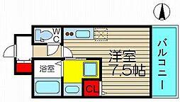 ビバーナ日本橋[307号室]の間取り