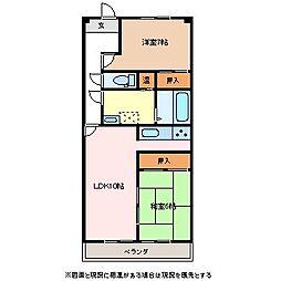 アーク南松本[3階]の間取り
