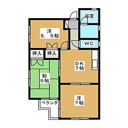 大村コーポ[1階]の間取り