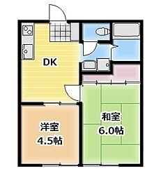 昭和コーポ本庄[201号室]の間取り
