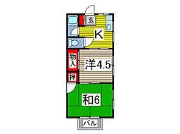プチメゾン蕨[3階]の間取り