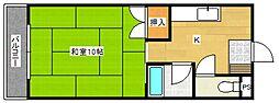 コーポラス坂井[3階]の間取り