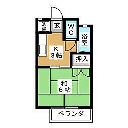 CABIN136[1階]の間取り