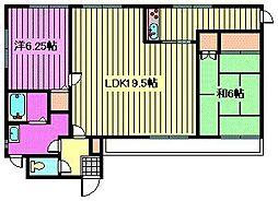 ドミール神田壱番館[2階]の間取り