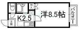 京都府京都市下京区西高辻町の賃貸マンションの間取り