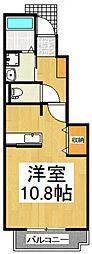 アニメート東所沢[1階]の間取り