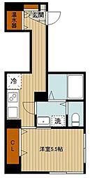 東京メトロ半蔵門線 神保町駅 徒歩4分の賃貸マンション 3階1Kの間取り