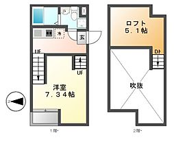 ピアチェーレ新栄[2階]の間取り