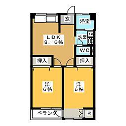 日盛ビル[5階]の間取り