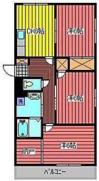 ザ・グレイスハヤタ[2階]の間取り