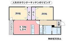 キミヱ野芥レジデンスII[102号室]の間取り
