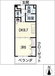 センチュリーパーク新川1番館[9階]の間取り
