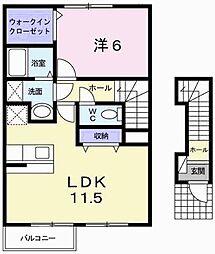 スイートガーデンII[2階]の間取り