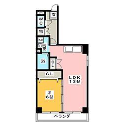 日比野マンション[4階]の間取り
