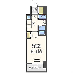 ララプレイス大阪ウエストプライム[6階]の間取り