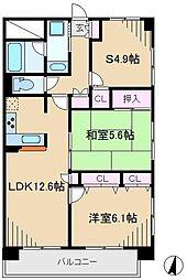 本駒込Kマンション[4階]の間取り