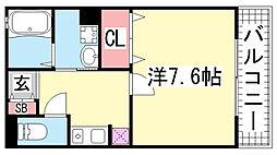 エッセンティア大倉山[202号室]の間取り