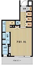 神奈川県横浜市港北区新横浜の賃貸マンションの間取り