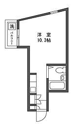 マンションササノ[3階]の間取り