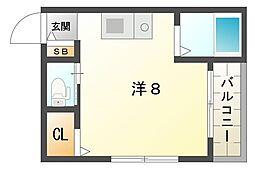 大阪府守口市土居町の賃貸マンションの間取り