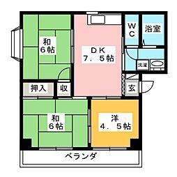 アーバンユキ[3階]の間取り