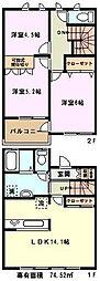 [テラスハウス] 埼玉県川口市大字安行慈林 の賃貸【/】の間取り