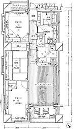 ダイアパレスグランデージ横濱 4階3LDKの間取り