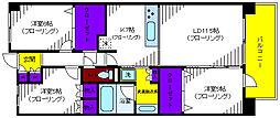 プラウド立川トレサージュ[2階]の間取り