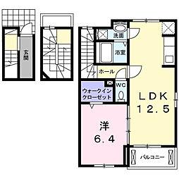 マ・シェリ A 3階1LDKの間取り