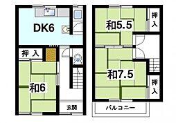 井上貸家 1階3DKの間取り