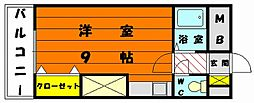 プチメゾーン宮前[1階]の間取り