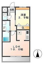 ルミナス レジデンス 3階1LDKの間取り