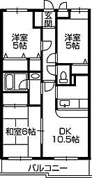 第3旭マンション[3階]の間取り