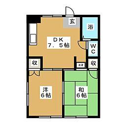 メープルハイツ[1階]の間取り