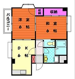 メゾンパートIII[1階]の間取り