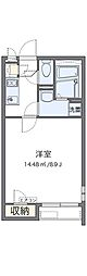 JR阪和線 津久野駅 徒歩25分の賃貸アパート 1階1Kの間取り