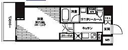 都営三田線 芝公園駅 徒歩5分の賃貸マンション 5階1Kの間取り