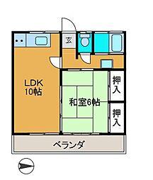 新百合ハイツC棟[2階]の間取り