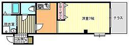 メゾンヒガシビル[1階]の間取り