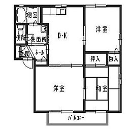 エクシードJS[2階]の間取り