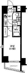 東京メトロ日比谷線 三ノ輪駅 徒歩5分の賃貸マンション 6階1Kの間取り