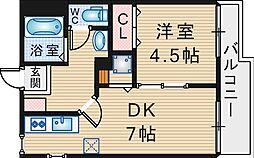 大阪府豊中市宮山町2丁目の賃貸アパートの間取り