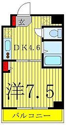 ハイポイント西川口 3階1DKの間取り