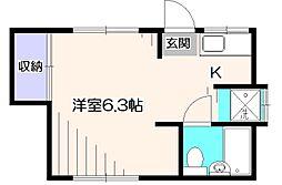 サンハイツ野寺[2階]の間取り