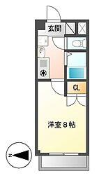 レージュ松原[2階]の間取り