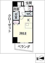 プレサンス覚王山D-STYLEII601[6階]の間取り