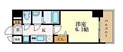 プレサンス THE MOTOYAMA 7階1Kの間取り