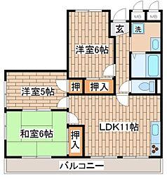 兵庫県神戸市長田区長田天神町6丁目の賃貸アパートの間取り