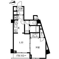 スカイコート蒲田7[2階]の間取り
